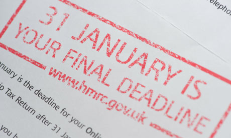 Filing deadline in the UK for tax returns